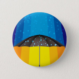 Rain storm on a sunny day pinback button
