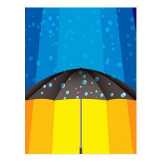 Rain storm on a sunny day postcard