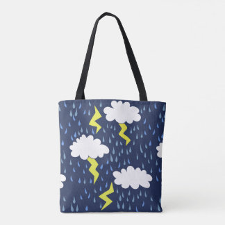 Rain storms thunder clouds tote bag