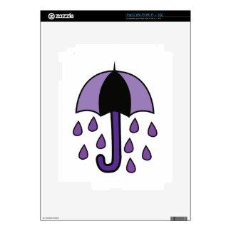 Rain Umbrella Decal For iPad 2