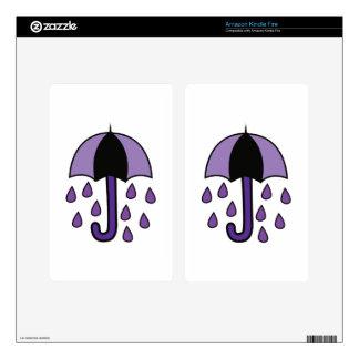 Rain Umbrella Kindle Fire Skin