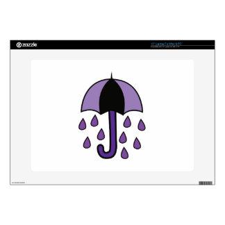 Rain Umbrella Laptop Skin