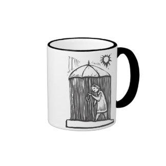 Rain Umbrella Ringer Coffee Mug