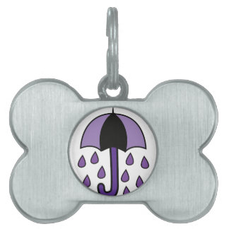 Rain Umbrella Pet Name Tag