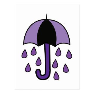 Rain Umbrella Postcard