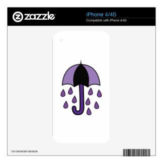 Rain Umbrella Skin For iPhone 4