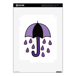 Rain Umbrella Skins For iPad 3