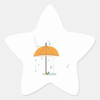 Rain Umbrella Star Sticker