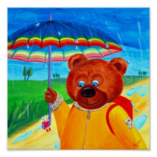 Rain Walk | Bear & Little Mousie | Best Friends Poster