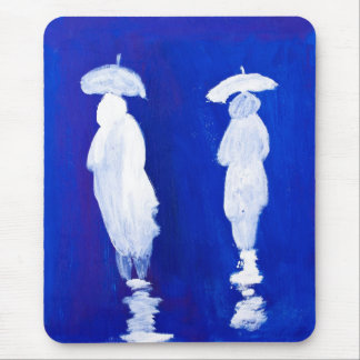 Rain Walkers painting in acrylic by Kay Gale Mouse Pad