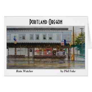 Rain Watcher note card