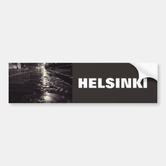 Rain water flowing on the streets of Helsinki Bumper Sticker