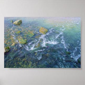 Rain Water Flowing Poster