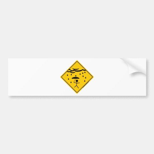 Rain Weather Warning Merchandise and Clothing Bumper Sticker