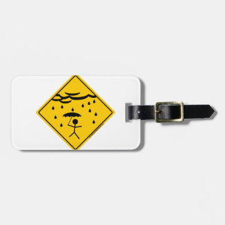 Rain Weather Warning Merchandise and Clothing Luggage Tags