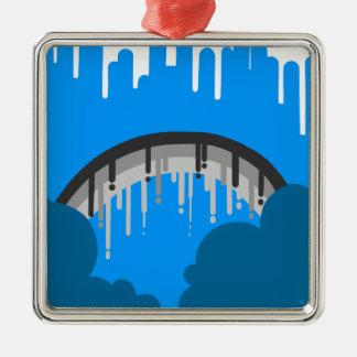Rain will melt all away metal ornament