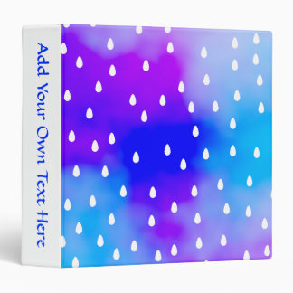 Rain with blue and purple cloudy sky. binder