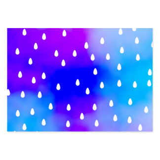 Rain with blue and purple cloudy sky business card template