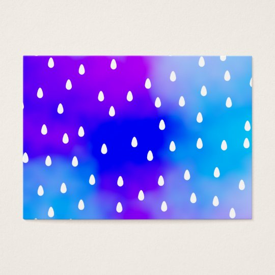 Rain with blue and purple cloudy sky. business card