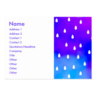 Rain with blue and purple cloudy sky. large business card