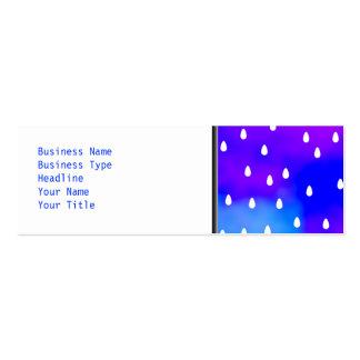 Rain with blue and purple cloudy sky. mini business card