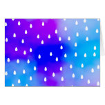 Rain with blue and purple cloudy sky. stationery note card