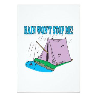 Rain Wont Stop Me 5x7 Paper Invitation Card
