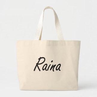 Raina artistic Name Design Jumbo Tote Bag