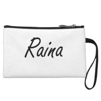 Raina artistic Name Design Wristlet Clutch