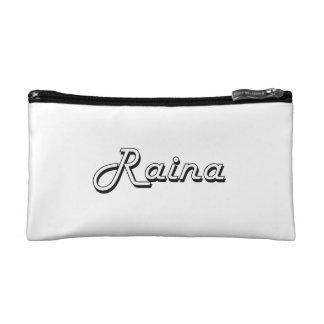 Raina Classic Retro Name Design Cosmetics Bags