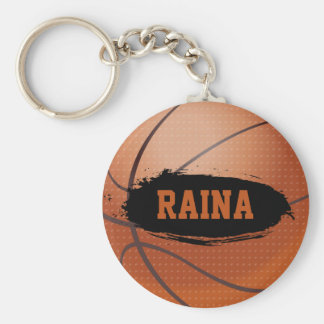 Raina Grunge Basketball Key Chain / Key Ring