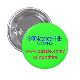 RAINandFIRE, www.zazzle.com/rainandfire, CLOTHING Pinback Buttons