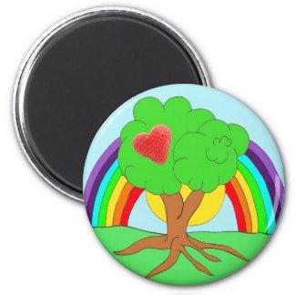Rainberry Tree 2 Inch Round Magnet