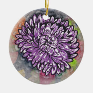Rainbiw Crysanthemum Ceramic Ornament