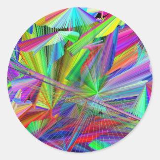 rainbiw line of color classic round sticker