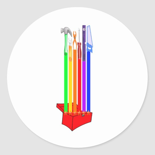 Rainbo Toolbox Classic Round Sticker