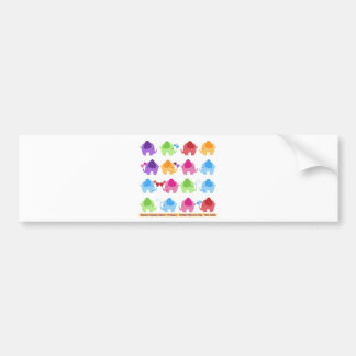 rainboe elephant clip art bumper sticker