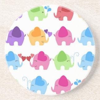 rainboe elephant clip art drink coaster