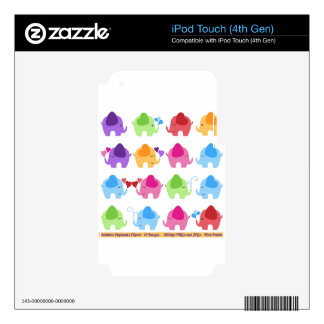 rainboe elephant clip art iPod touch 4G skins
