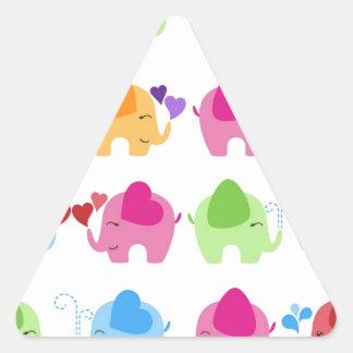 rainboe elephant clip art triangle sticker