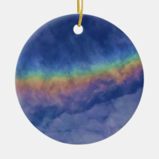 Rainbow2013Nov8_3thirtyp Double-Sided Ceramic Round Christmas Ornament