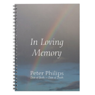 Rainbow 1 Funeral Memorial Guest Book
