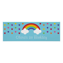 Rainbow 1st Birthday Welcome Poster