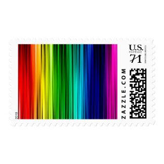 """Rainbow 2.1""""x1.3"""",$0.71 (1st Class 1oz Odd or 2oz) Stamps"""