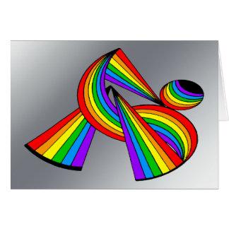Rainbow # 2 Tattoo Greeting Cards