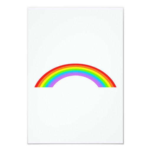 Rainbow 3.5x5 Paper Invitation Card