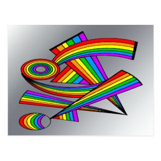Rainbow # 3 Tattoo Postcard