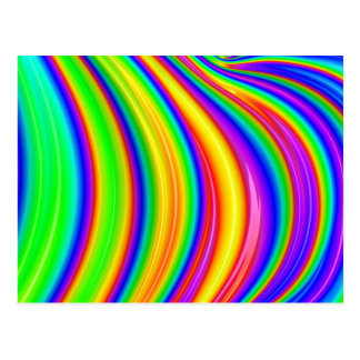 Rainbow 3D abstract art Postcard