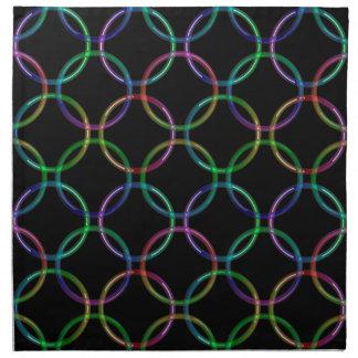 Rainbow 3D interlocking rings + your ideas Cloth Napkin