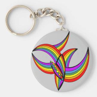 Rainbow # 4 Tattoo Keychain
